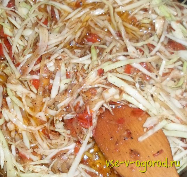 Тушеный перец фаршированный капустой рецепт 155
