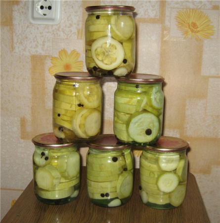 Зима рецепты маринования кабачков на